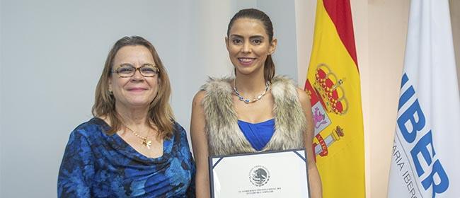 Noelia Vargas Solís es una alumna originaria de Naranjo, en la provincia costarricense de Alajuela, que cursó becada por FUNIBER la Maestría en Gerontología Social